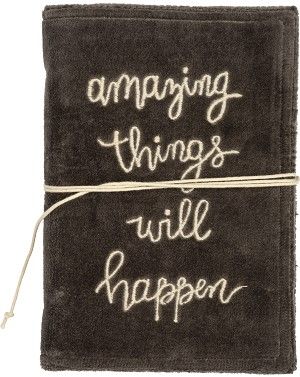 Amazing Things Will Happen Velvet Journal (48 Unlined Pages) from Primitives by Kathy