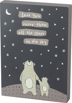 Love You More Than All The Stars In The Sky Decorative Wooden Box from Primitives by Kathy