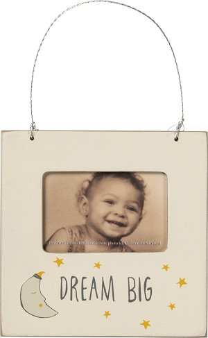 Moon & Star Dream Big Mini Baby Photo Picture Frame (Holds 2x3 Photo) from Primitives by Kathy