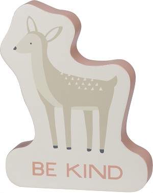 Pink Deer Design Be Kind Decorative Wooden Sign 5.5x7 from Primitives by Kathy