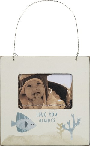 Mini Baby Photo Picutre Frame Love You Always Fish (Holds 3x2 Photo) from Primitives by Kathy