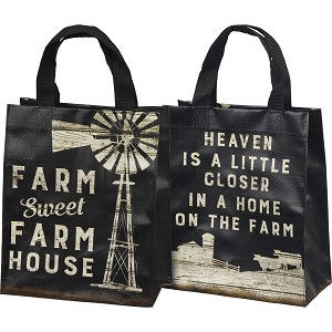 Farm Sweet Farm House Double Sided Daily Tote Bag from Primitives by Kathy
