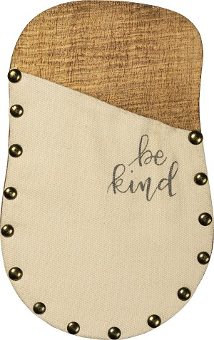 Be Kind Wooden Wall Pocket by Artist Phil Chapman from Primitives by Kathy