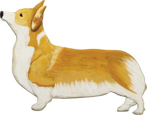 Wooden Corgi Hanging Wall Décor from Primitives by Kathy
