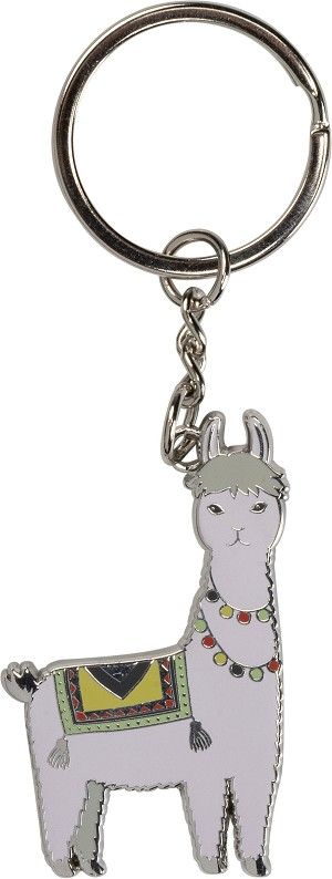 I Love You A Whole Llama Enamel Key Chain from Primitives by Kathy