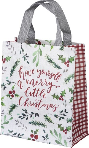 Holly Design Have A Merry Little Christmas Double Sided Daily Tote Bag from Primitives by Kathy