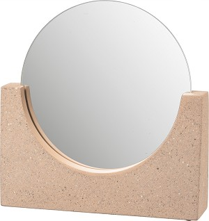 Pink Cement Base Terrazoo Design Makeup Mirror from Primitives by Kathy