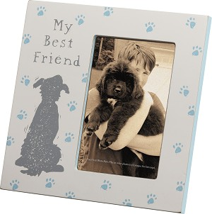 Dog Lover My Best Friend Decorative Photo Picture Frame (Holds 4x6 Photo) from Primitives by Kathy