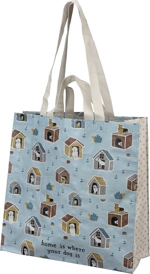 Dog Lover Home Is Where Your Dog Is Double Sided Market Tote Bag from Primitives by Kathy