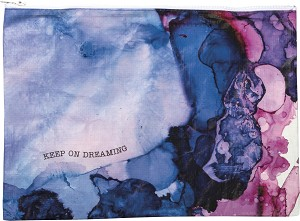 Watercolor Art Keep On Dreaming Double Sided Zipper Document Folder from Primitives by Kathy