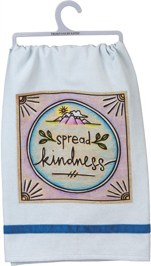 Woodburn Art Design Spread Kindness Cotton & Velvet Dish Towel 28x28 from Primitives by Kathy