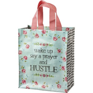 Wake Up Say A Prayer And Hustle Daily Tote Bag from Primitives by Kathy