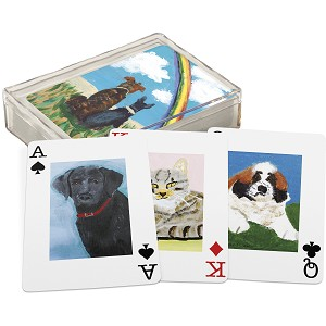 Dog & Cat Lovers Pet Design Playing Cards Deck from Primitives by Kathy
