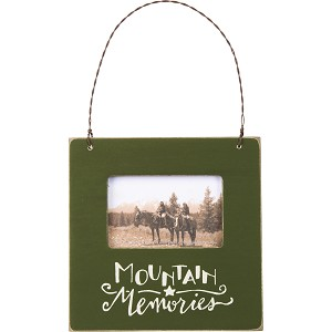 Mountain Memories Decorative Mini Photo Picture Frame (Holds 3x2 Photo) from Primitives by Kathy