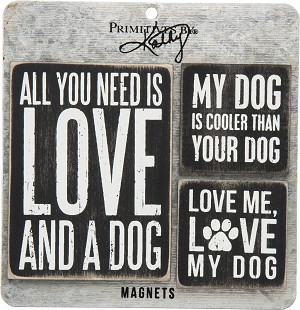 3 Piece Dog Lover Magnet Set from Primitives by Kathy
