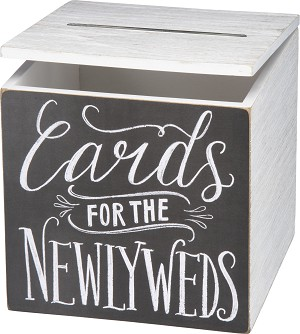 Cards For The Newlyweds Hinged Card Box by Artist Valerie McKeen from Primitives by Kathy