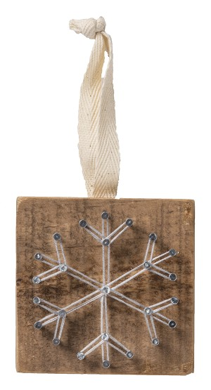 Snowflake String Art Hanging Ornament from Primitives by Kathy