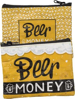 Beer Money Zipper Wallet Travel Pouch Bag from Primitives by Kathy