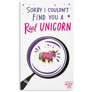 Sorry I Couldn't Find You A Real Unicorn Enamel Pin With Greeting Card from Primitives by Kathy