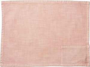 Stonewashed Blush Woven Knit Cotton Pocket Placemat 19x13 from Primitives by Kathy