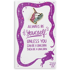 Be A Unicorn Enamel Pin With Greeting Card from Primitives by Kathy