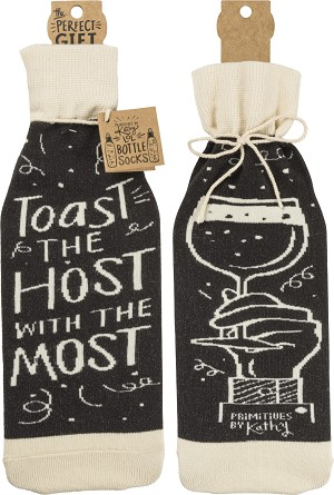 Toast The Host With The Most Wine Bottle Sock Holder from Primitives by Kathy