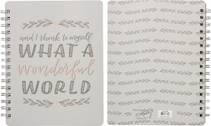 What A Wonderful World Spiral Notebook (120 Line Pages) from Primitives by Kathy