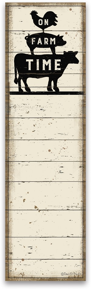 On Farm Time Magnetic Paper List Notepad (60 pages) from Primitives by Kathy