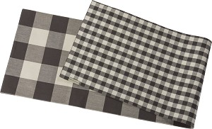 Double Sided Buffalo Check Print Decorative Table Runner Cloth 56x15 from Primitives by Kathy