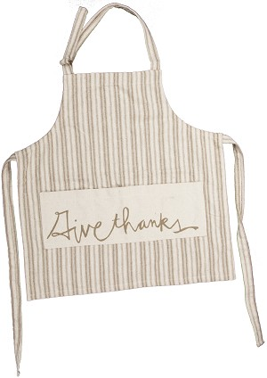 Give Thanks Cotton Apron from Primitives by Kathy