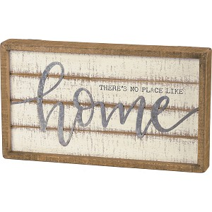 There's No Place Like Home Decorative Wooden Slat Sign 14x8  from Primitives by Kathy